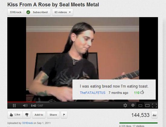 Wordless Wednesday- Funny YouTube Comments | Marina Sleeps ...